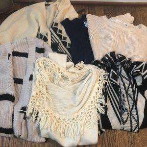 Lot of 6 Anthropologie Sweaters Size XS BB Dakota
